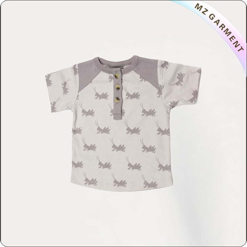 Boys Grey Grasshopper T-Shirt