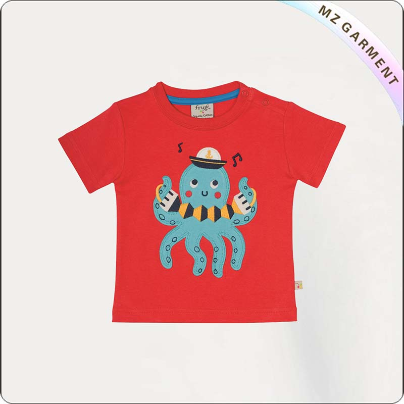 Girls Octopus Musician T-Shirt