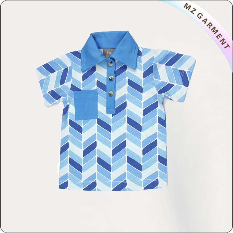 Girls Skyblue Twill T-Shirt