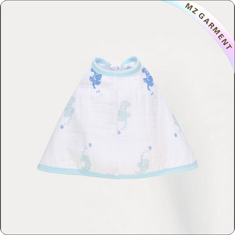 Kids Ecological Drool Floral Pinny