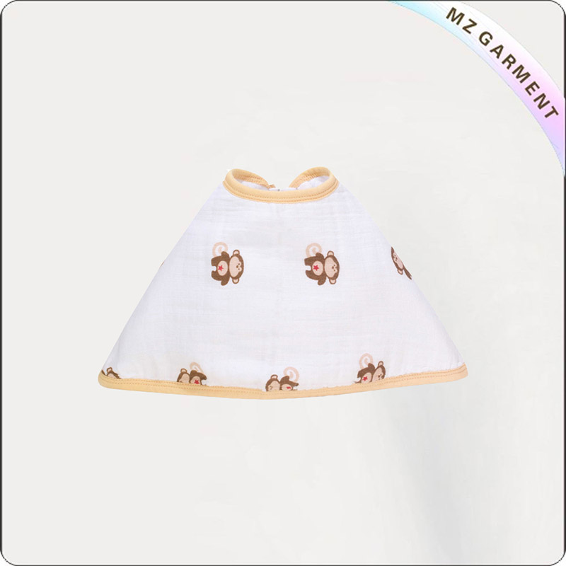 Toddler Oragnic Cotton Little Monkey Pinny