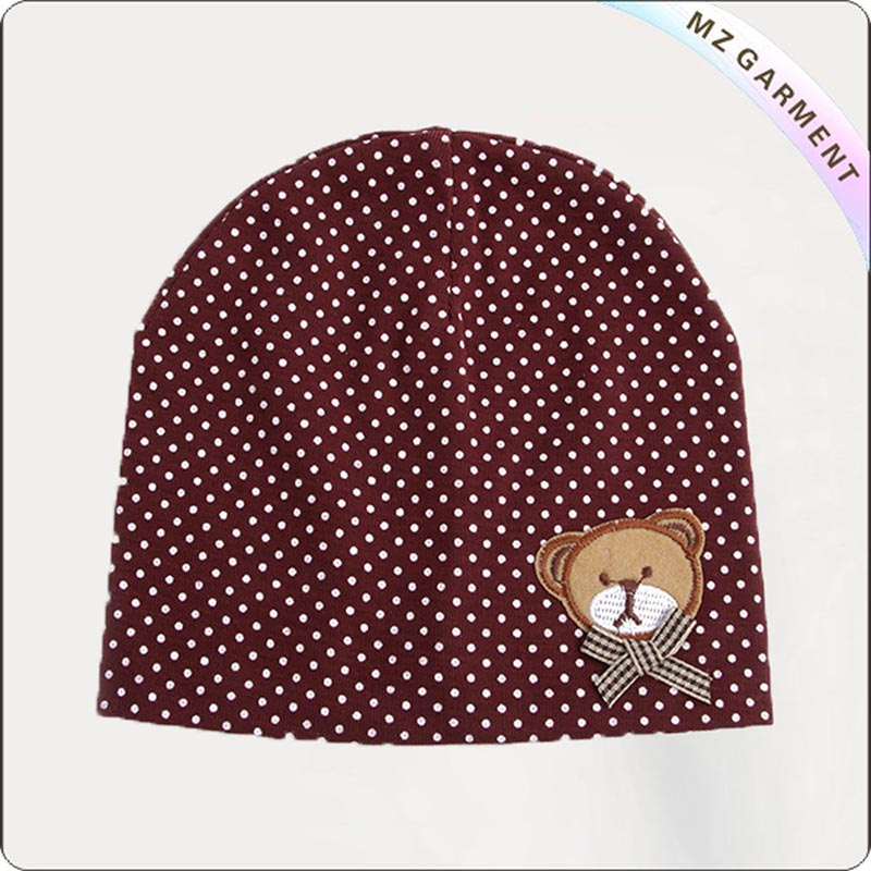 Kids Organic Red Dahlia Gorro