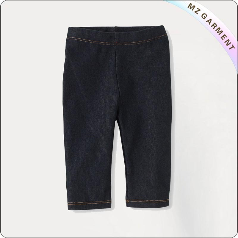 Children Eco Black Cropped Leggings