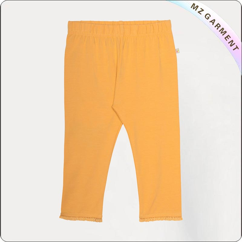 Girls Eco Friendly Blazing Yellow Tight Trousers