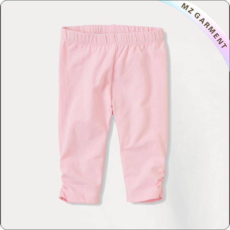 Girls Eco Friendly Pink Cropped Leggings