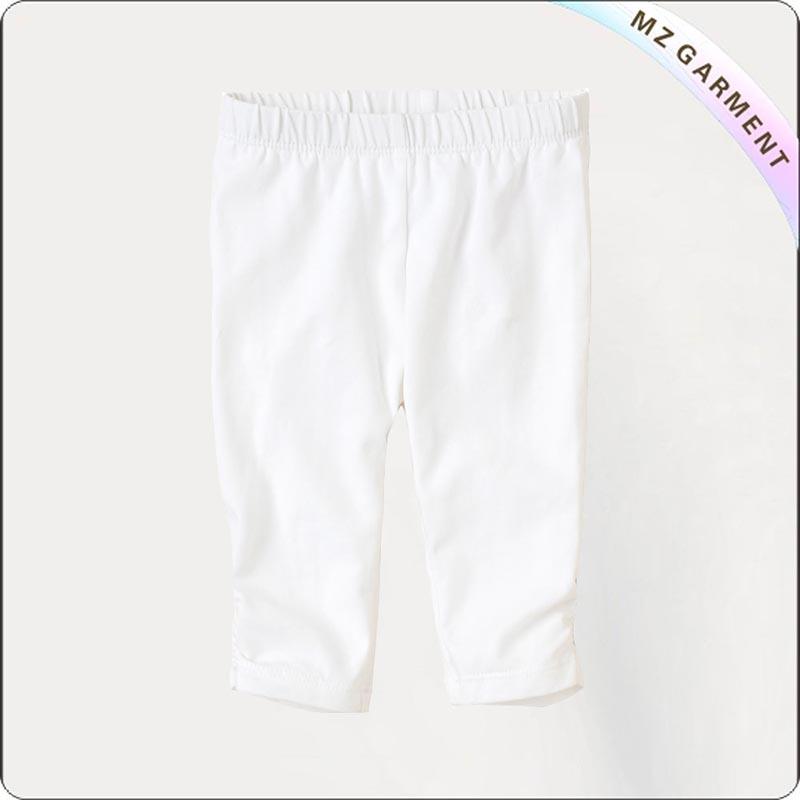 Girls Ecological White Knee Leggings