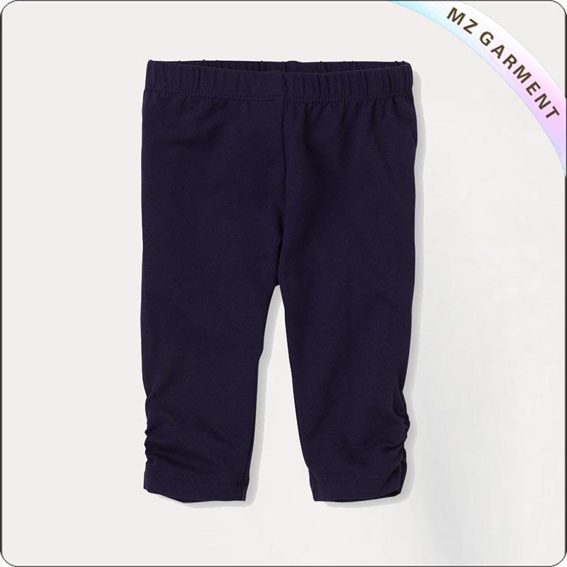 Kids Eco Friendly Navy Knee Leggings