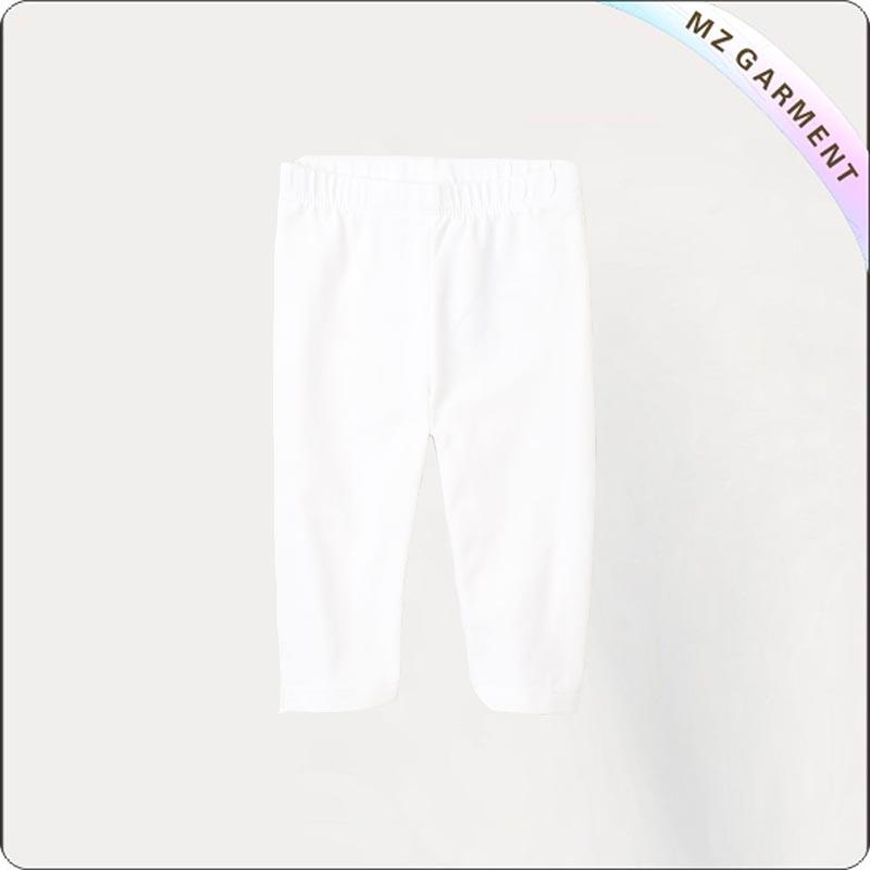 Kids Eco Snow White Short Skinny Pants
