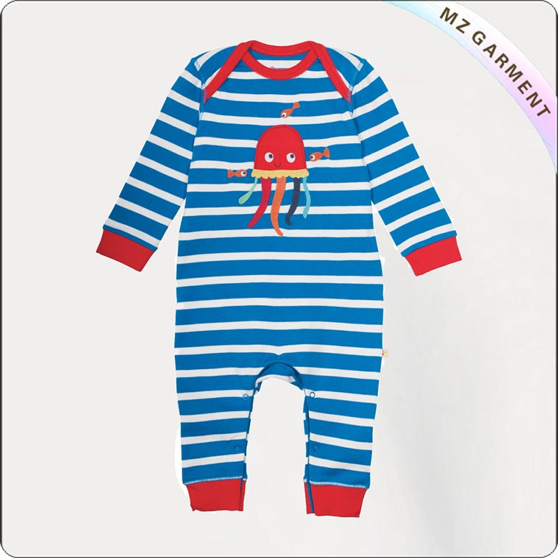 Boys Eco Friendly Octopus Snapsuit