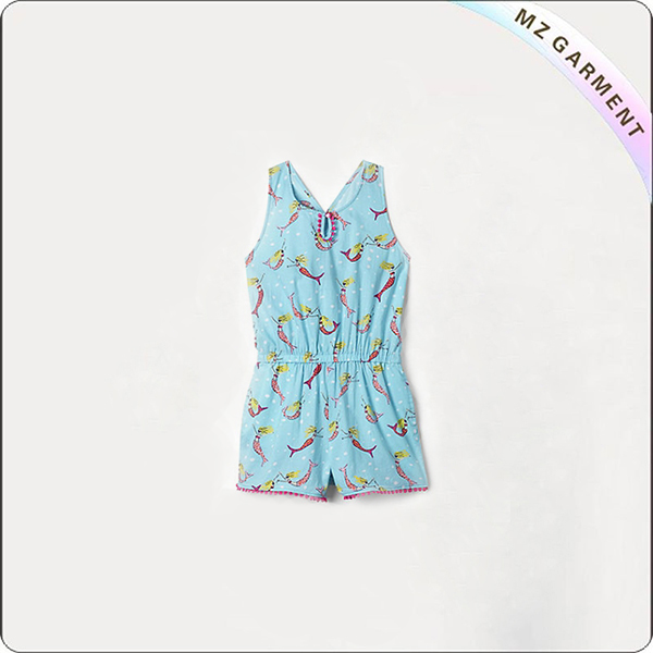 Girls' Blue Playsuit