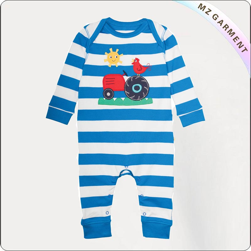 Infants Natural Tractor Playsuit