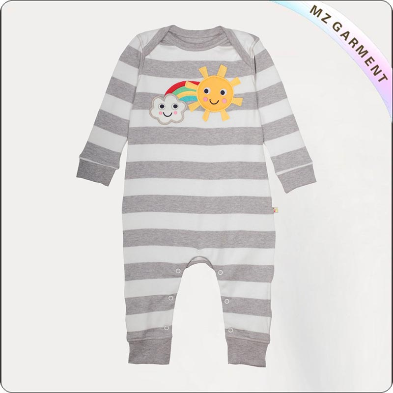 Kids Natural Long Sleeves Romper