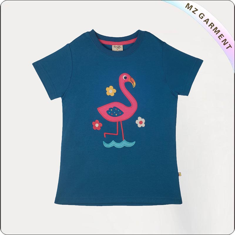 Girls Environmental Flamingo T-Shirt