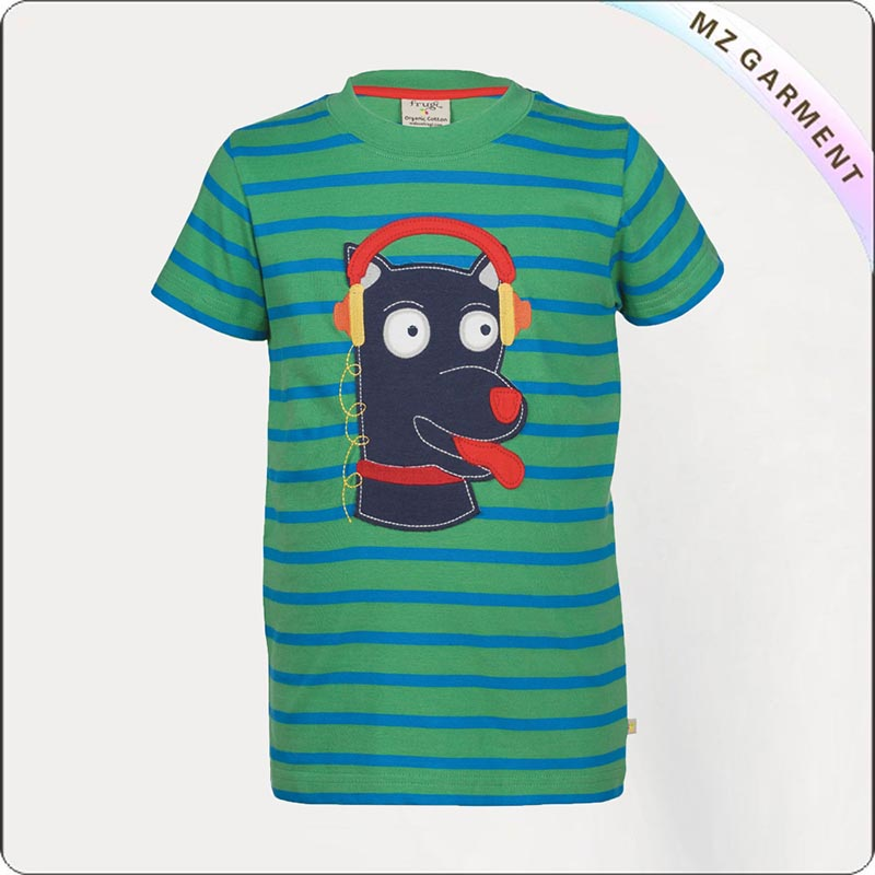 Kids Ecological Olive Green Tee