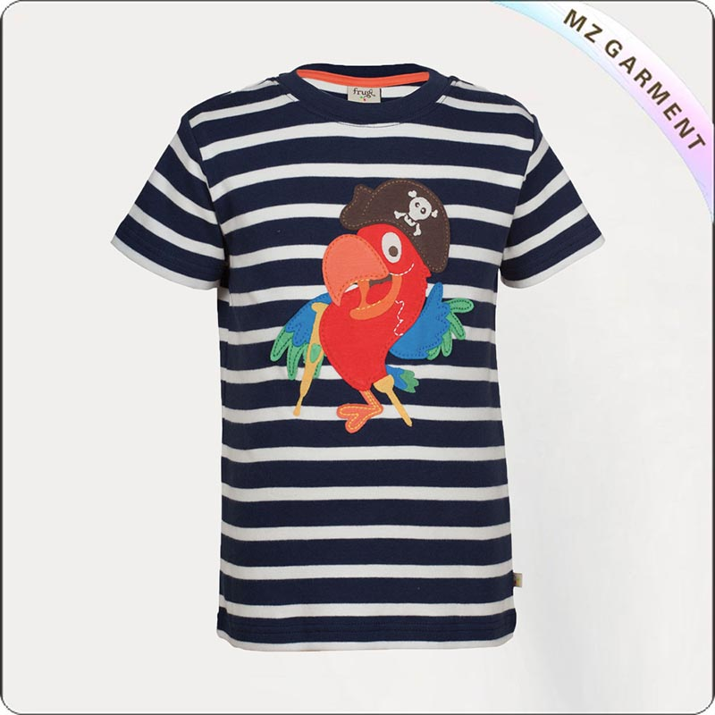 Kids Natural Parrot T-Shirt