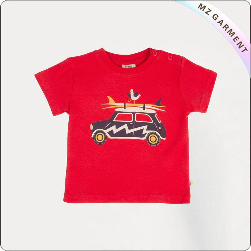 Kids Organic Car T-Shirt