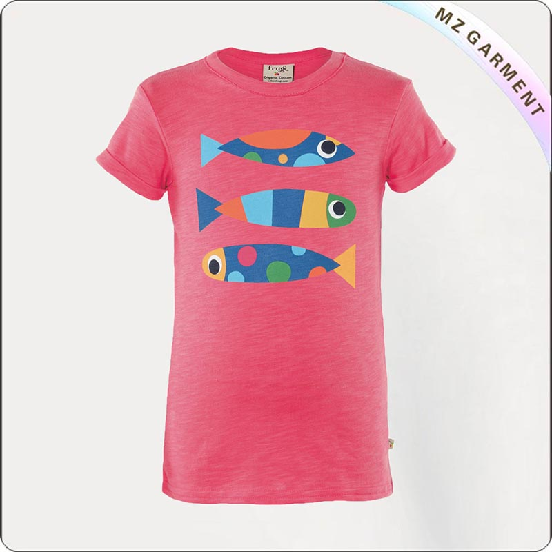 Kids Organic Shocking Pink Tee