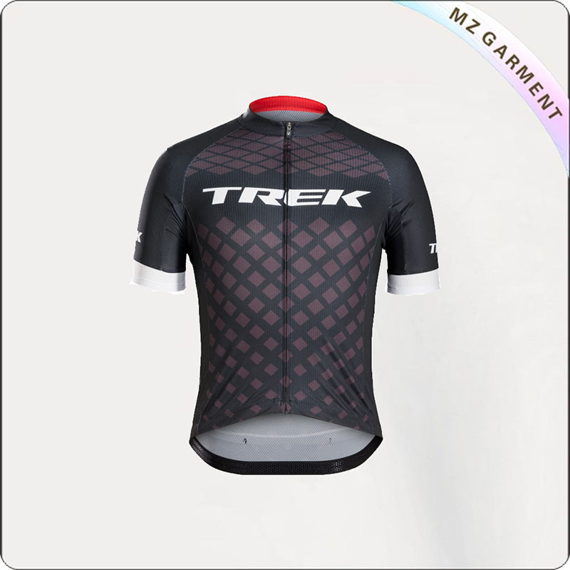 Men's Diamond Check Cycling Jersey