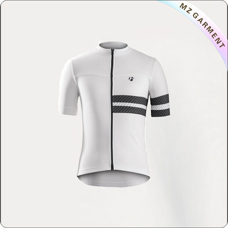 Men's Pure White Cycling Jerseys