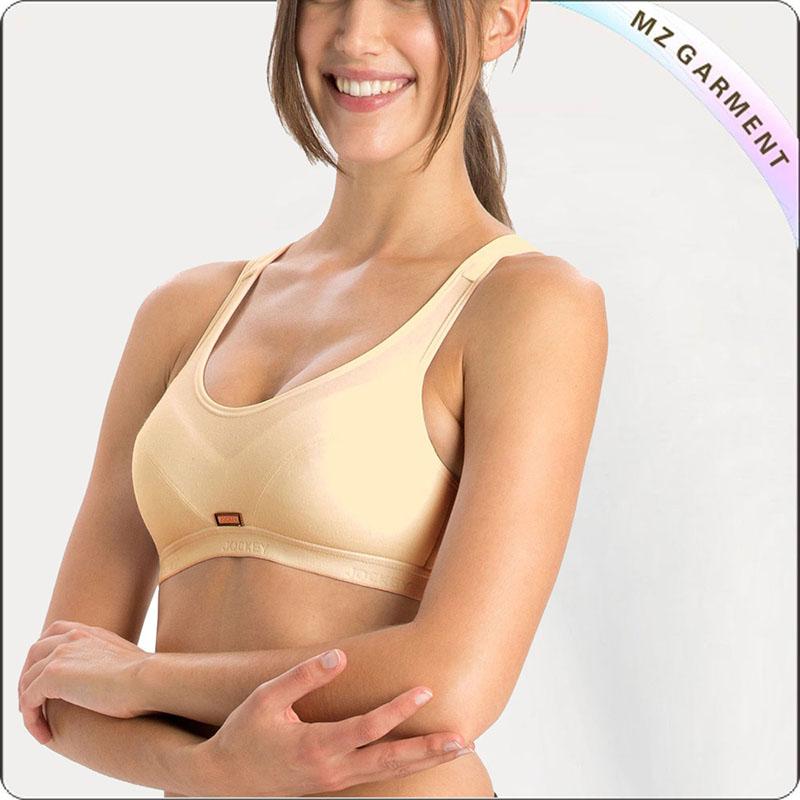 Women Bleached Apricot Gym Bra