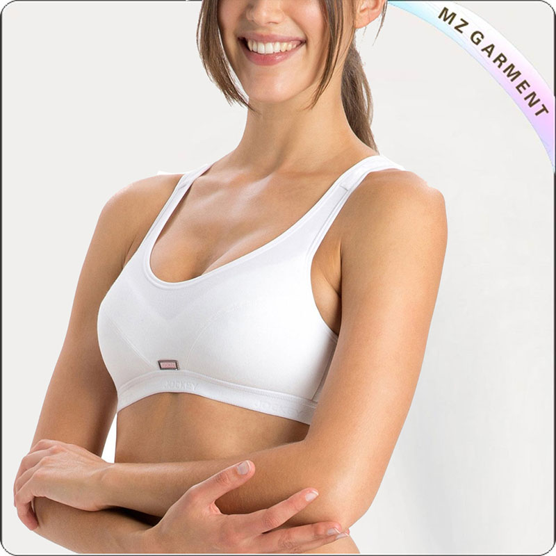 Women White Exercise Bra