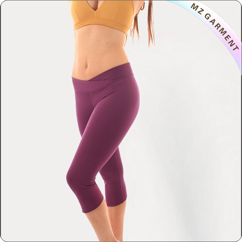 Women Mauve Yoga Capri