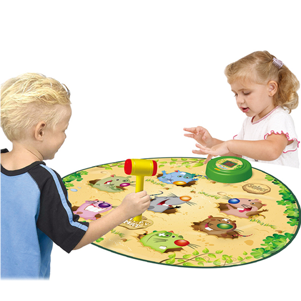 Whack A Mole Playmat with Hammer, Electronic Play Mat