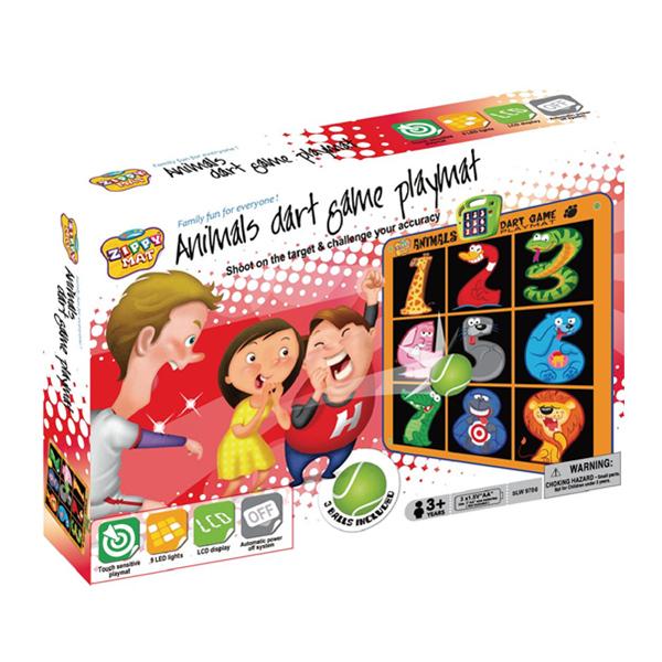 Zippy Mat Animal Dart Game Playmat, Kids Electronic Play Mat