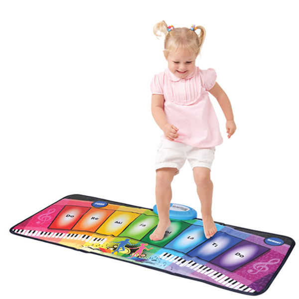 Rainbow Foot Piano Mat