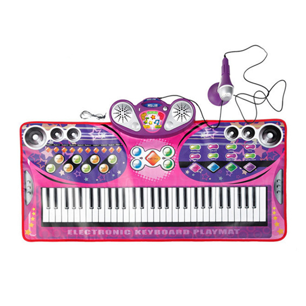 Electronic Keyboard Playmat, SLW9728, Pink