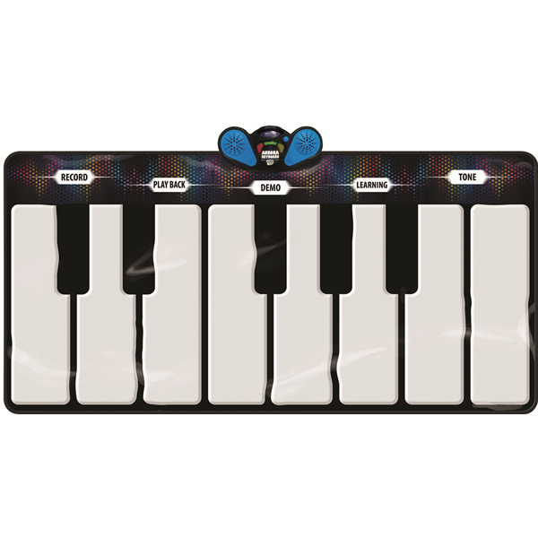 Aurora Music Mat, 8 Instruments, 151 x 74 cm, Light up Keys
