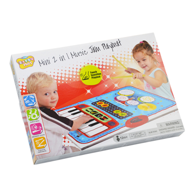 Mini 2 in 1 Music Jam Mat, 70 x 45 cm, 2 Player, 13 Keys