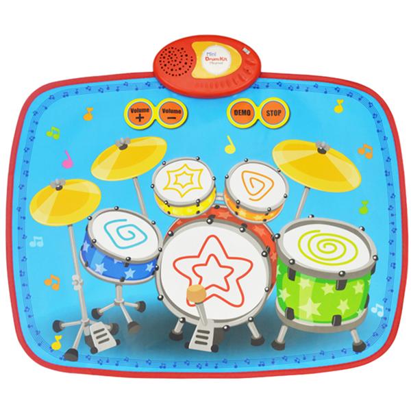 Mini Drum Kit Mat, 55 x 43 cm, Play Mode & Demo Mode