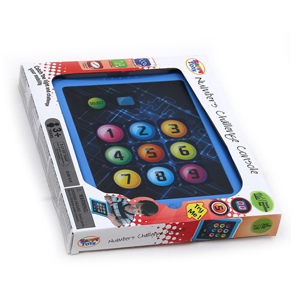 Number Challenge Pad, Light Up Game, Number Learning Pad