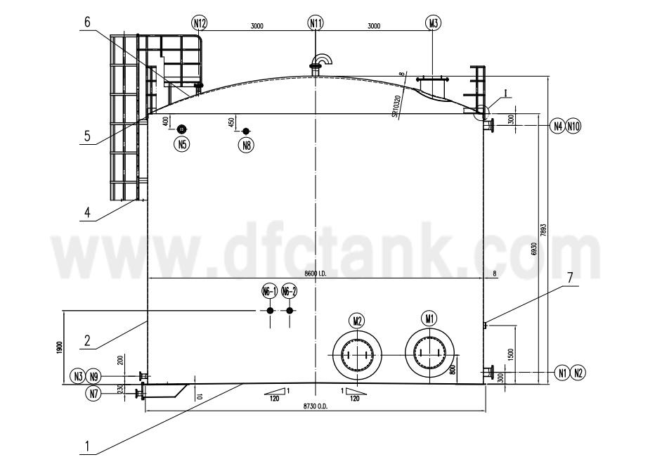 fire-water-tank-carbon-steel-q235b-api-650-100000-gallon-drawing