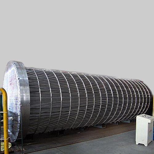 304 SS Shell and Tube Heat Exchanger, 500mm, 4 Pass Tube, 6000mm