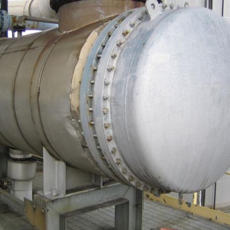 Aluminum Shell and Tube Heat Exchanger, ASME, 400mm, Tube 3000mm