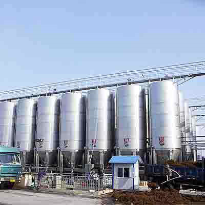 Pharmaceutical Stainless Steel Storage Tank, GB150, 2000mm, 3000Ton