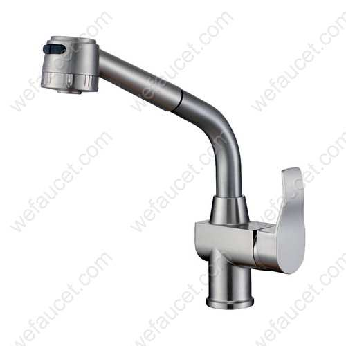 Single Handle Kitchen Faucet, Pull Out Sprayer, Zinc Alloy Handle