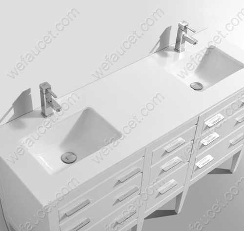 Bathroom Vanity Top, Natural Quartz Grain, Polymer Resin, Colorful Pigment