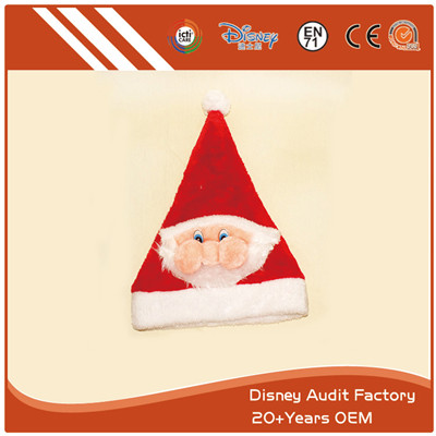 Customized Santa Hat 3D 100% PP Cotton Filling
