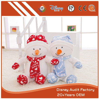 Plush Christmas Snowman Color Custom