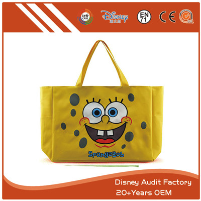 Folding Cartoon Shopping Bag Polyester Latest Fashion Design