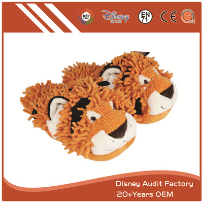 Fuzzy Tiger Slippers