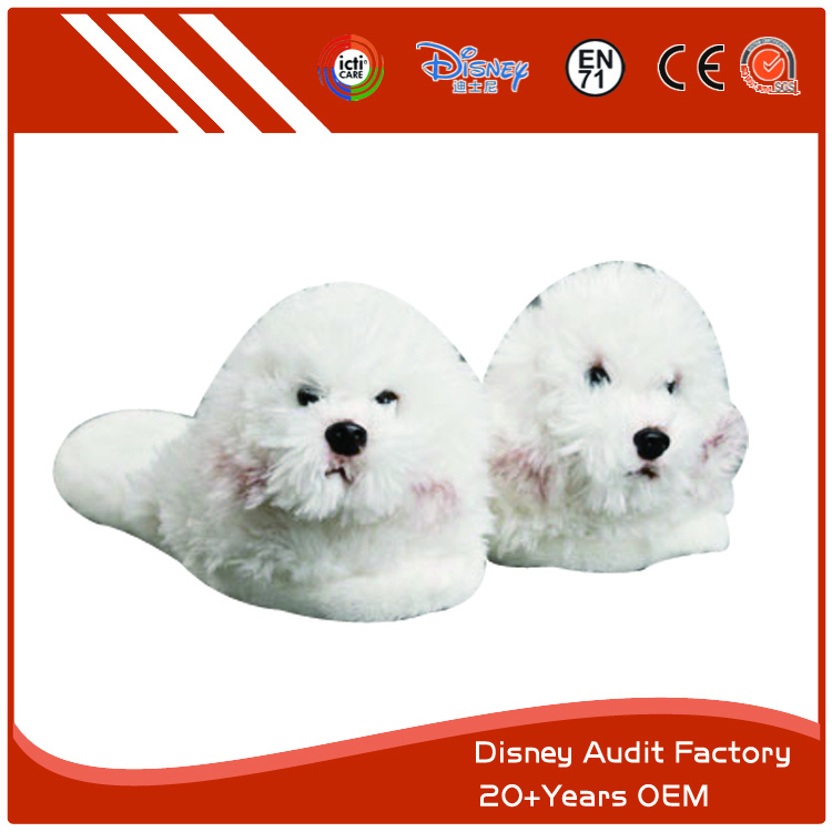 White Dog Slippers