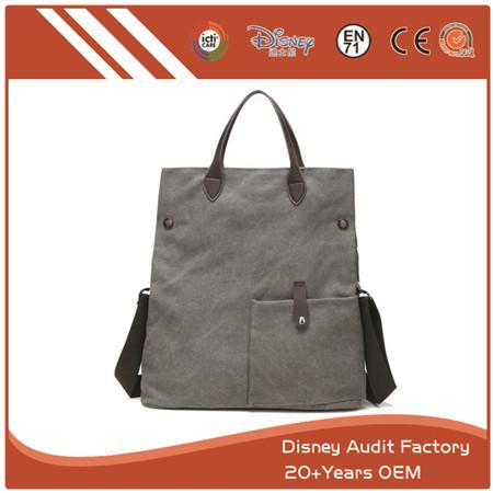 Black Canvas Tote Bag for Women, Stylish Design