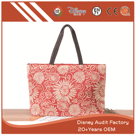 Floral Print Handbags, Shoulder Bags, Canvas, Custom Design