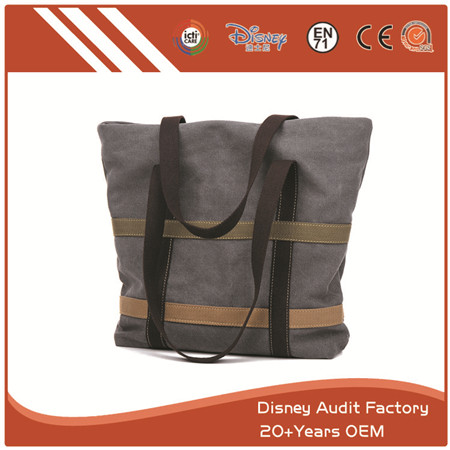 Grey Canvas Bag, High Quality, Durable in Use