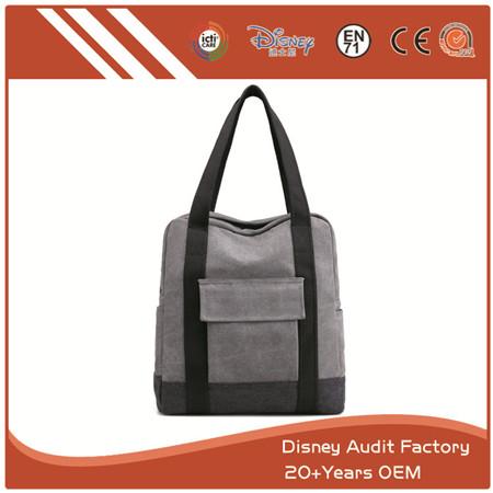 Grey Canvas Bag, Shoulder Bag, Lightweight, Durable in Use