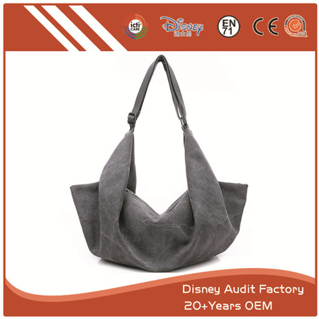 Grey Canvas Purse with High Quality, Special Design